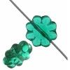 Glass Daisy 9mm Emerald Strung Bead